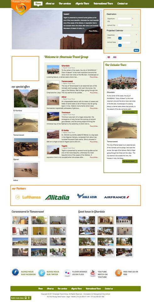 Site web de l'agence de voyage et de tourisme Les Pins Maritimes